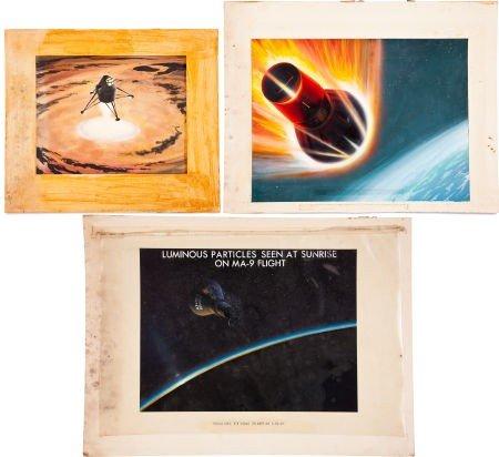 41005: NASA Original Space Art: Three Paintings.