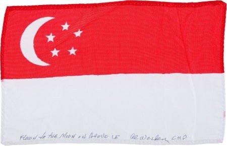 41137: Apollo 15 Flown National Flag of Singapore Direc