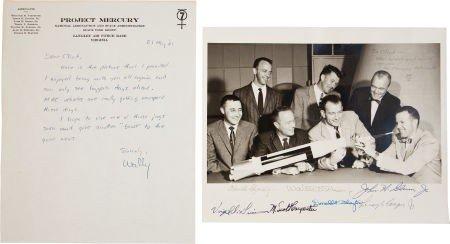 "41012: ""Mercury Seven"" NASA Astronaut Photo Signed by A"