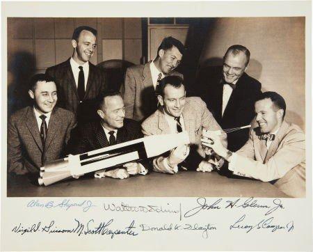 "41013: ""Mercury Seven"" NASA Astronaut Group One Photo S"