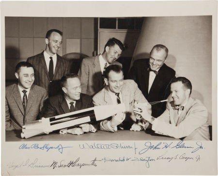 "41014: ""Mercury Seven"" NASA Astronauts Group Photo, Sig"