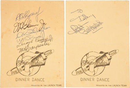 41018: Mercury-Atlas 6 (Friendship 7) Dinner Dance Tick