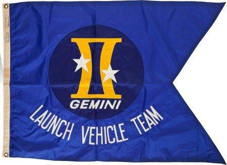 """41023: Gemini """"Launch Vehicle Team"""" Original Flag."""