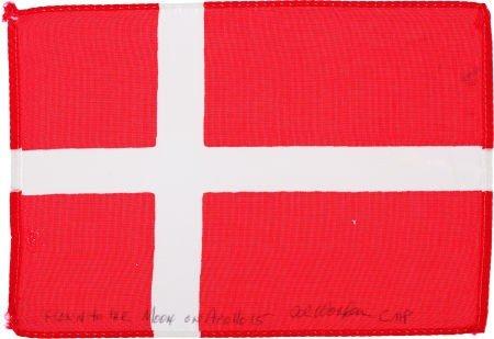41129: Apollo 15 Flown National Flag of Denmark Directl