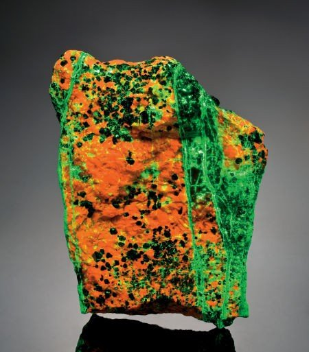 49119: FLUORESCENT WILLEMITE AND CALCITE