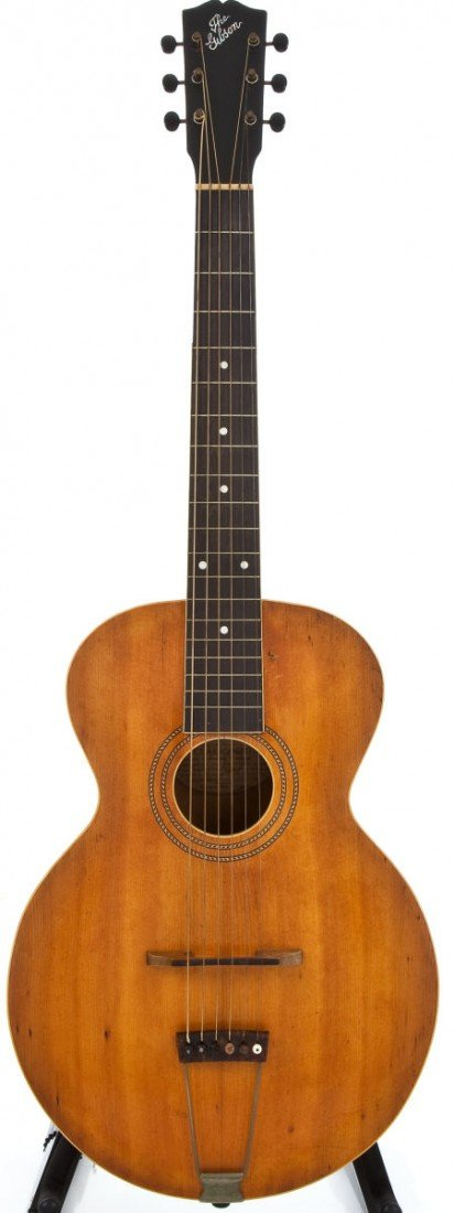 54004: 1917 Gibson L-1 Natural Acoustic Guitar, #35474.