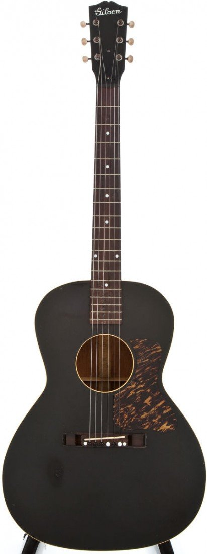 54022: 1941 Gibson L-00 Black Acoustic Guitar, #5222G.