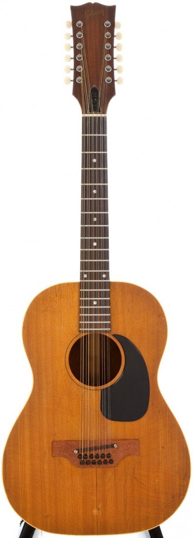 54057: 1966/69 Gibson LG-12 Natural 12 String Acoustic