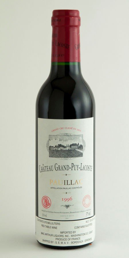 21: Chateau Grand Puy Lacoste 1996  Pauillac 9lbsl, 1bs