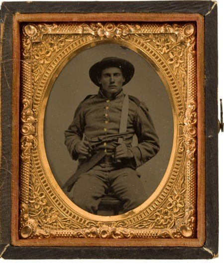 Great Ninth Plate Tintype of a Young Confederate Infant
