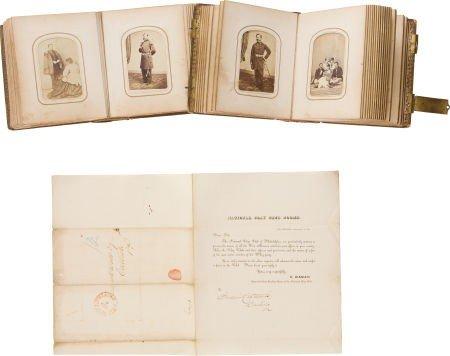 Two Civil War Period Cartes-de-Visites Albums from Carl