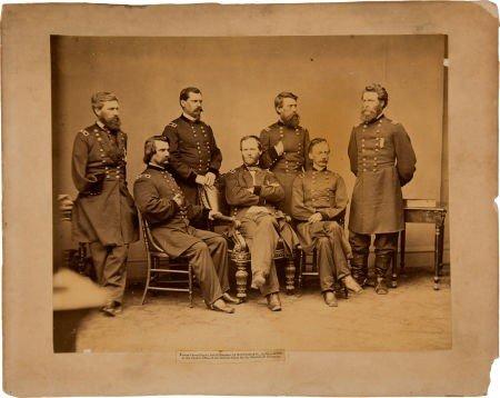 Civil War Period Albumen Portrait by Brady of Gen. Sher