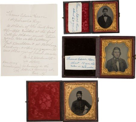 Rare Civil War Grouping of Three Images of the Same 1st