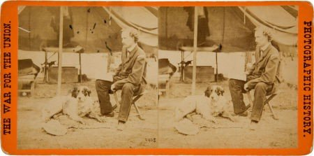 Rare Civil War Stereo View of General George Armstrong
