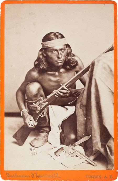 C. 1880 Cabinet Photograph of Apache Scout Nantaje, Awa