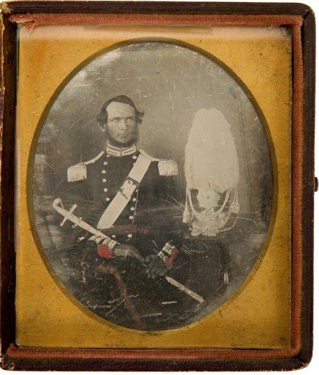 C. 1843 Sixth Plate Daguerreotype of an American Militi