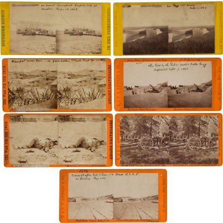 Group of Seven E & H. T. Anthony Civil War Stereo Views