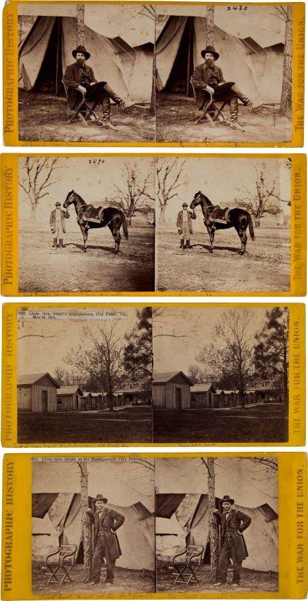 Group of Four Civil War Stereo Views by Matthew Brady: