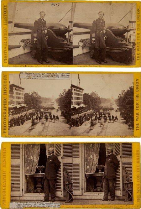 52015: Group of Three Civil War Stereo Views by Matthew