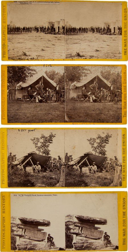 52017: Group of Four Civil War Stereo Views by Matthew