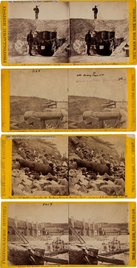 52018: Group of Four Civil War Stereo Views by Matthew