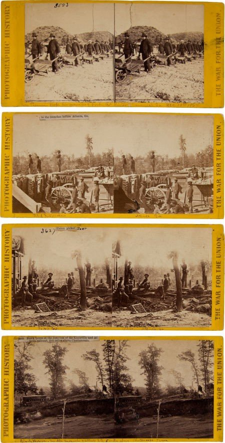 52019: Group of Four Civil War Stereo Views by Matthew