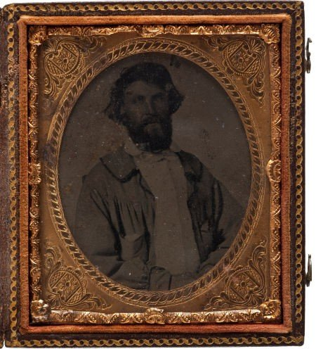 52020: Sixth Plate Tintype of A. A. Goulsby, Hawkins Co