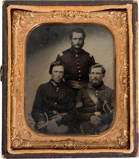 52022: Great Identified Civil War 1/6 Plate Tintype of