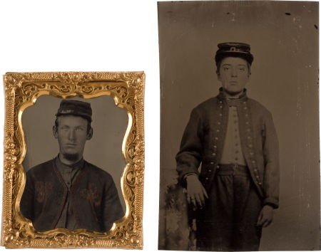 52023: Two Exceptionally Nice Tintypes of Civil War Zou