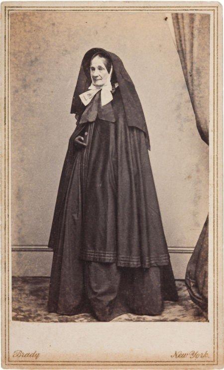 52024: Brady Carte de Visite of Civil War Nurse Adeline