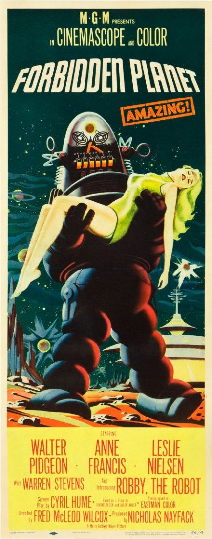 "83004: Forbidden Planet (MGM, 1956). Insert (14"" X 36"")"