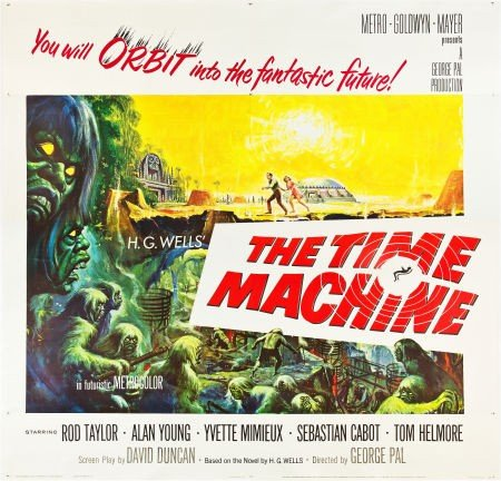 "83005: The Time Machine (MGM, 1960). Six Sheet (81"" X 8"