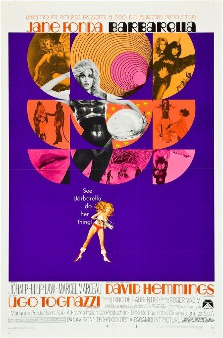 """83009: Barbarella (Paramount, 1968). One Sheet (27"""" X 4"""