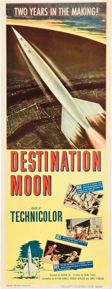 "83011: Destination Moon (Pathé, 1950). Insert (14"" X 36"