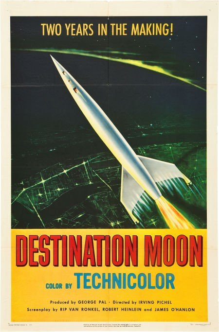 "83012: Destination Moon (Pathé, 1950). One Sheet (27"" X"