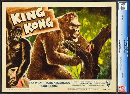 83319: King Kong (RKO, R-1956). CGC Graded Lobby Card (
