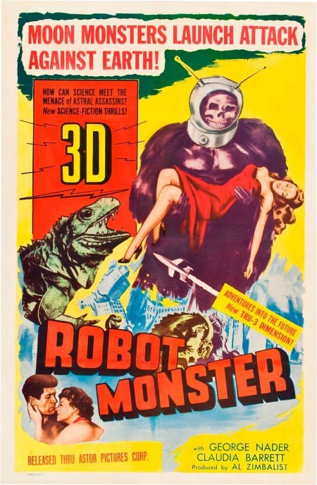 83021: Robot Monster (Astor Pictures, 1953). One Sheet