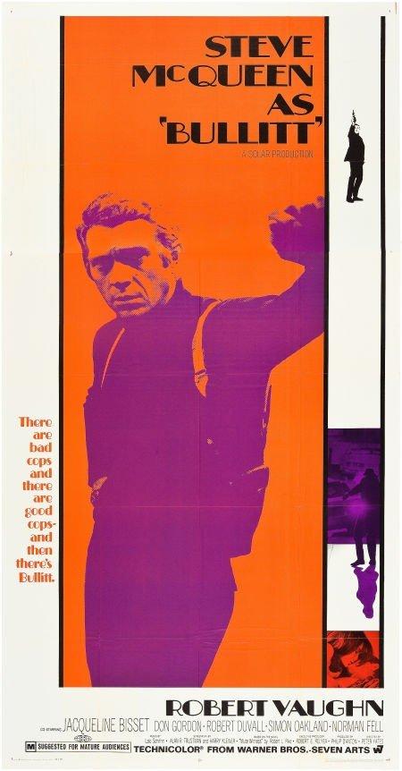 83179: Bullitt (Warner Brothers, 1968). Three Sheet (41