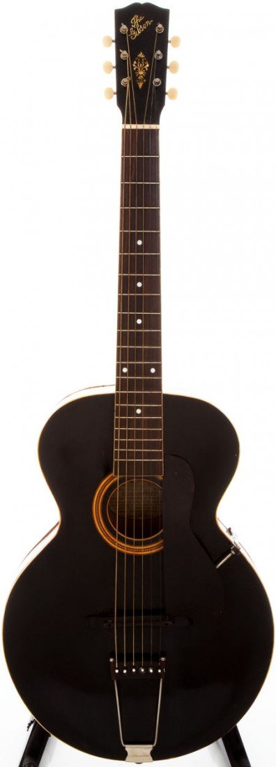 54006: 1921 Gibson L-3 Black Archtop Acoustic Guitar, #