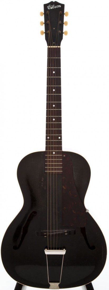 54022: Late 1930s Gibson L-50 Black Acoustic Guitar, #N