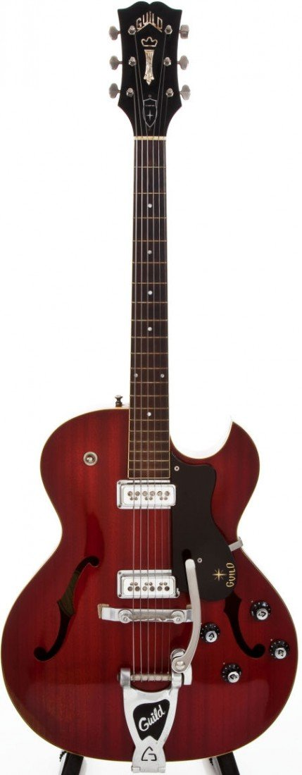54273: 1963 Guild Starfire III Cherry Archtop Electric