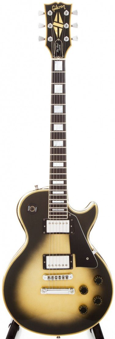 54373: 1979 Gibson Les Paul Custom Silverburst Solid Bo