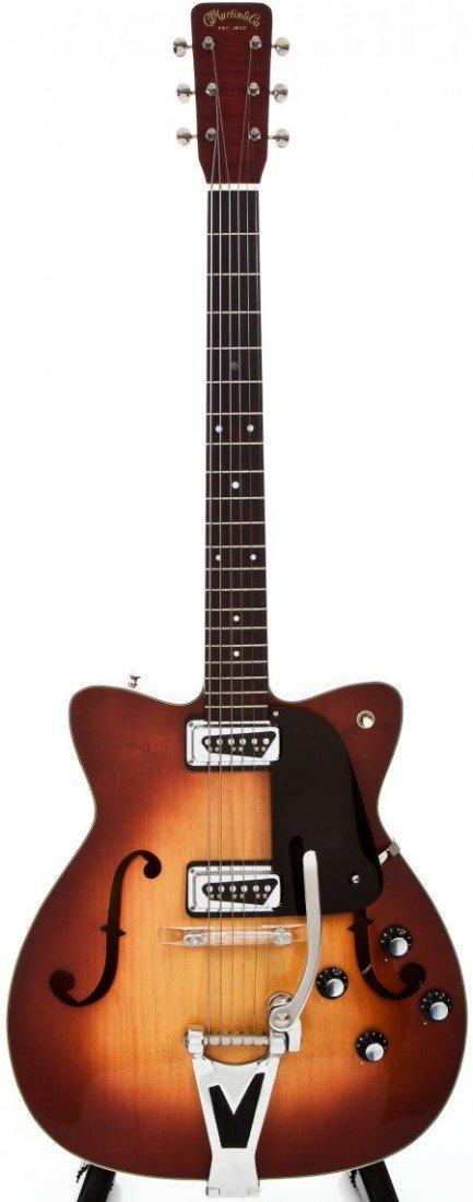 54280: 1964 Martin F65 Sunburst Semi-Hollow Body Electr