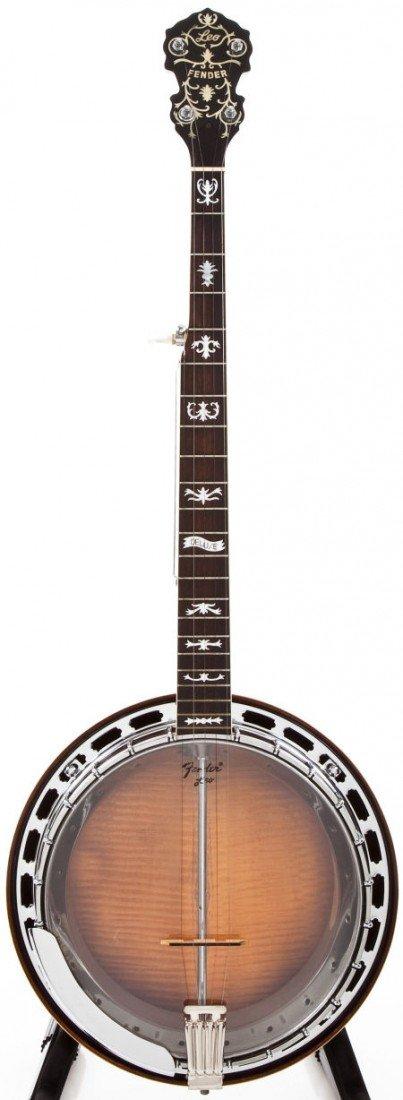 54457: 1963 Fender Leo Deluxe 5-String Banjo, #00077.