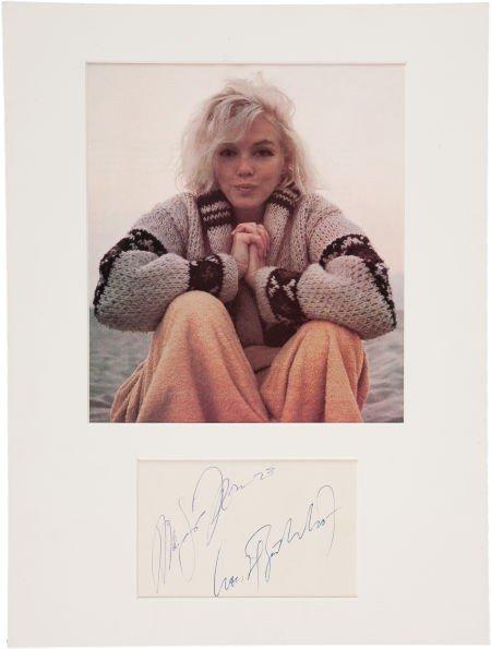 46001: Marilyn Monroe Autograph.