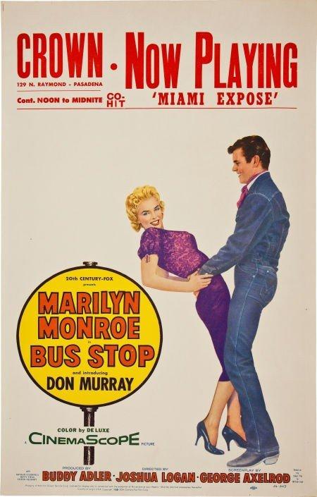 46004: Marilyn Monroe Bus Stop Vintage Window Card (195