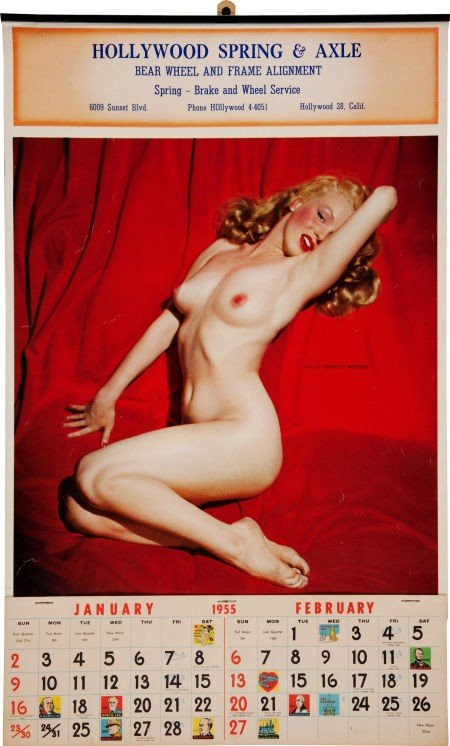 46017: Marilyn Monroe Golden Dreams Calendar from Richa