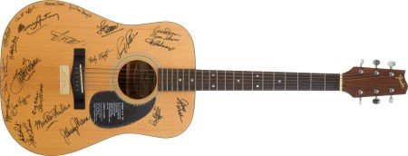 46023: Gene Autry and Others Autographed Guitar.