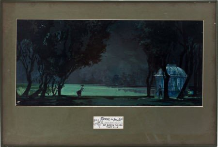 46069: The Sound of Music Set Design Painting.