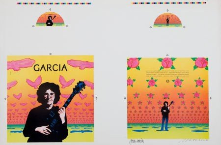 46541: Jerry Garcia Signed Compliments Album Cover Art